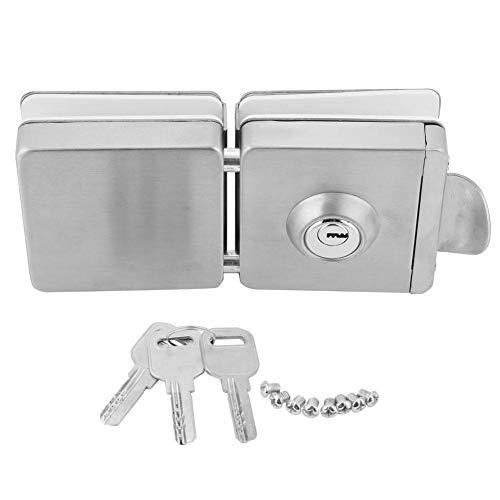 deurslot vierkant roestvrij staal dubbel glas deurslot voor binnen 45-55mm glazen deur met sleutels en accessoires