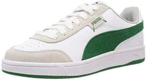 PUMA Court Legend LO, Zapatillas Unisex Adulto, Blanco White/Amazon Green/Gray Violet, 45 EU
