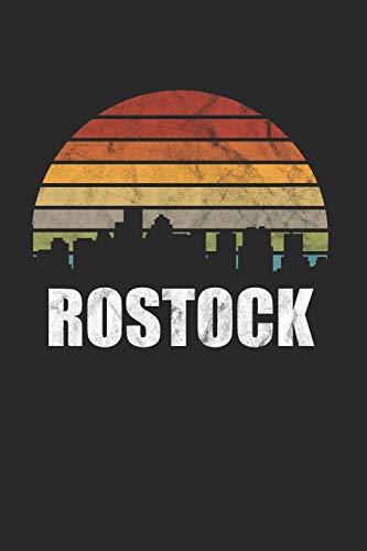 Rostock: Kassel & Hessen Notizbuch 6'x9' Punktiert Geschenk für Retro Stadt & Souvenir