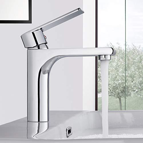 BONADE Wasserhahn Bad Mischbatterie Badarmatur Waschtischarmatur Einhandmischer Waschtisch Armatur Messing Waschtischbatterie für Badezimmer Waschbecken Chrom