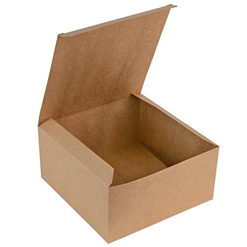 Brown Kraft Gift Box Great for All Occasions Boxes for Gifts, Cupcake Box, Cake Box, Craft Box (8'x8'x4', 10 Pack)