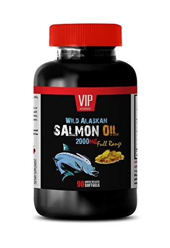 Brain Booster and Memory Enhancer - Wild Alaskan Salmon Oil 2000 - Wild Alaskan Salmon Oil softgels - 1 Bottle 90 Softgels