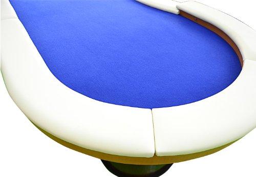 Nexos Pokertisch massiv Casinotisch aus Holz für Poker mit blauem Filzbezug weißen Armlehnen und LED Beleuchtung für 10 Spieler 213 x 105 cm - 5