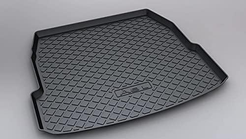 Bagagemattor för Audi A8L 2015-2017 (inget kylskåp), bagagerumsmatta golvbricka skydd interiör tillbehör av vattentät halkfri anti-repor