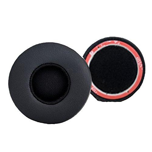 Accessory House Almohadillas de Repuesto de AHG compatibles con los Auriculares Beats EP (Negro). Cuero de proteína | Espuma Blanda de Alta Densidad | fácil instalación