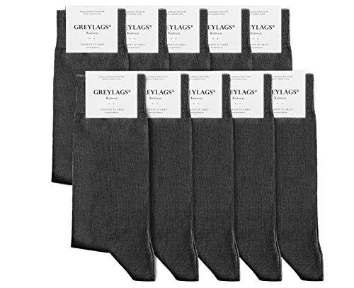 Greylags Prima Calcetines Algodón Peinado Costuras Cosidas a Mano Cómodo Business Calcetines | Hombres y mujeres | 80% Algodón | Certificado Oeko-Tex Standard 100
