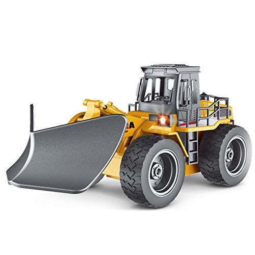 XIALIUXIA 6 Kanal 2.4G RC LKW Fernbedienung/Fernbedienung Schneepflug/Alloy Schneekehrmaschine Fahrzeug 4WD Traktor Spielzeug Mit Lichtern Für Kinder