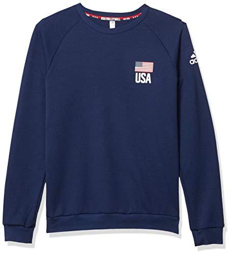 adidas Men's USA Volleyball Crew Neck Aeroready Team Navy Blue X-Large