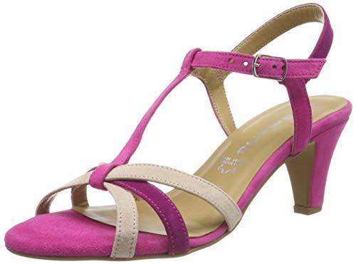 Tamaris Damen 1-1-28360-22 Riemchensandalen, Pink (Fuxia Comb 505), 41 EU