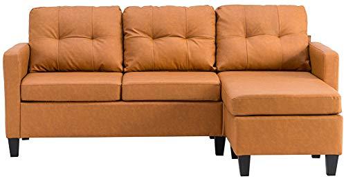 Mobiliario convertible lino transpirable no resbalón sofá con cojín,Comedor dormitorio loft,Sofá moderno en forma de L