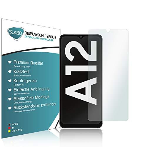 Slabo 4 x Protector de Pantalla para Samsung Galaxy A12 (A125F) lámina Protectora Ultra Transparente