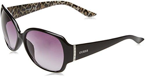 Guess GF0284_01B Gafas de sol, Negro (Nero/leopardato), 60 para Mujer