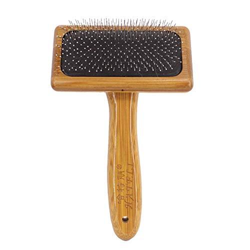 HONGBI Hundebürste,Hundehaarbürste,Softbürste,Robuste Universal-Pflegebürste aus Holz, auch als Fellbürste für Haustiere,Hunde und Katzen Holzfarbe L