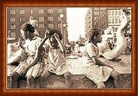 ポスター ジョン バション Hot Summer in the City 1940 額装品 ウッドハイグレードフレーム(ナチュラル)