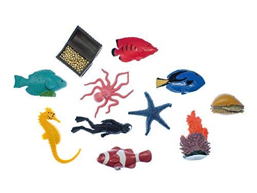 Miniblings 10x Korallenriff Fische Set Aufstellfiguren Tierfiguren Meerestiere