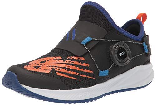 New Balance unisex child Fuelcore Reveal Boa V2 Alternative Closure Running Shoe, Black/Marine Blue, 2 Little Kid US