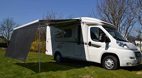 Windesa Vorderwand für Markise, Markise Erweiterung, zusätzlicher Camping Sonnenschutz - ALPHAZWEI