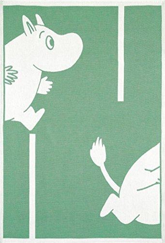 Mumins - Babydecke -Mumin geht!- Grün, 72x105 cm (Ekelund)