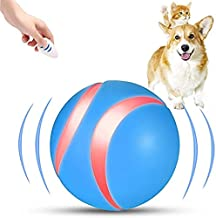 Blinkbrione Remote Control Pets Wicked Balls Automatic for Dog /Cats with Colorful LED Lights, Rechargeable and Durable (B...