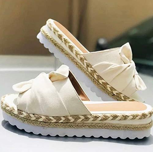 XLYYHZ Zapato De Playa De Plataforma De Verano EVA, Cuero Ergonómico Ligero De Gamuza Sandalias De Chancletas De Verano Superior Antideslizante Zapatillas Cómodas con Plantilla Acolchada