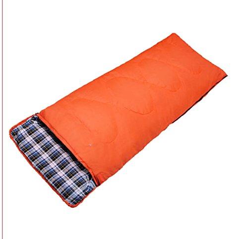 LBAFS Camping Sac De Couchage Voyager Randonnée Pédestre Et Autres Activités De Plein Air Respirant Chaud Agréable pour La Peau,Orange