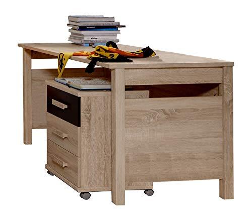 Beauty.Scouts Möbel EXTARA Collection Schreibtisch Boobo Tisch Arbeitsplatz Kinderzimmermöbel Jugendzimmer Bürotisch Büromöbel Arbeitszimmer Ecktisch Eiche sägerau NB 140x72x70cm