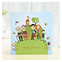 キッズフォトアルバム手作りアルバムレーヨンフォトアルバム子供のギフト赤ちゃんの成長メモリアルブックのカスタマイズ (色 : Happy family)