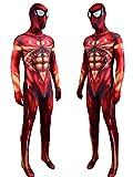 NVHAIM Versión Dorada del Body Spiderman de Hierro con Malla Mash Mascarilla Grande, fanáticos de la película Mono de Disfraces de Lujo, Adulto para niños El Hombre de Traje de Acero