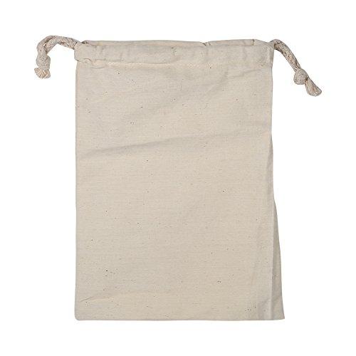 Fdit Paquete de Bolsa de Algodón con Cordón de Almacenamiento para Hogar Saco de Lavandería Respirable a Prueba de Polvo Multifuncional Bolsa de Viaje para Senderismo Al Aire Libre Camping(15 * 20cm)