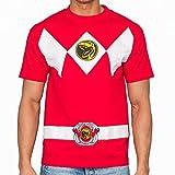 Power Rangers - Disfraz clásico de Ranger rojo para adulto. - - Talla Única