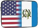 Funda para ordenador portátil de 10 a 17 pulgadas, con la bandera de Guatemala americana