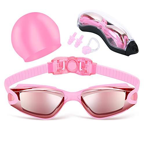 Jasonwell Gafas de Natación Goggles de Natación Googles para Natación Lentes de Natación Anteojos de Natación Gafas para Nadar Gogles para Dulto Hombres Mujeres Júnior Antivaho y Protección UV