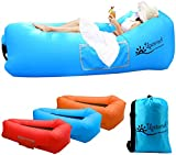 Inflatable Lounger Air Sofa Outdoor Portable Fast Inflatable Mattress with Tear-Resistant Fabric,Compact Carry Bag,Fixed pile,Waterproof Couch, Hammock Perfect For Hiking, Camping, Picnic, Beach,Pool