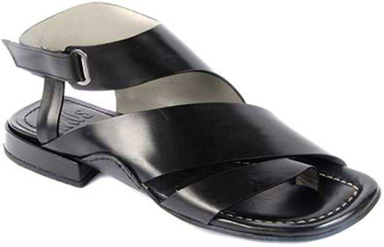 IXOS Black Leather Sandal Oliver black No. X18E10038-010OL