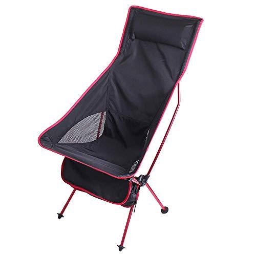 BSDBDF Chaise de Camping Pliante compacte avec Dossier Haut et Sac de Transport pour Voyage, Pique-Nique, pêche, Festival, randonnée Size Rose