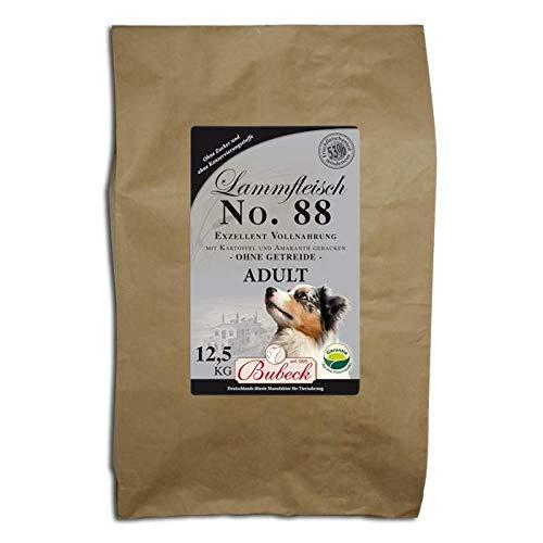 seit 1893 Bubeck Trockenfutter für Hunde | mit Lamm & Kartoffeln | Hundefutter getreidefrei | Single Meat 100% Lammfleisch | Vollnahrung für futtersensible Hunde | 12,5 Kg Trockenfutter getreidefrei