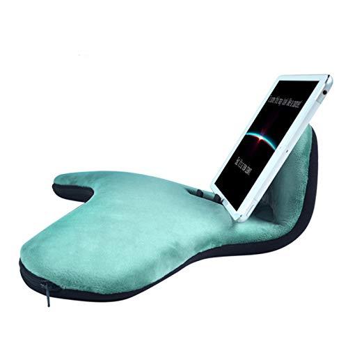 Cojín Soporte para Tablet,Book Holder, soporte cojín para tableta con forma de almohada,Sostiene de forma segura cualquier tableta de tamaño,televisión cómodamente desde cualquier ángul(5colores)