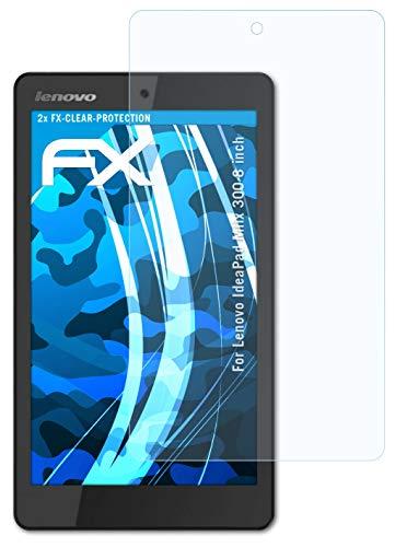 atFolix Schutzfolie kompatibel mit Lenovo IdeaPad Miix 300 8 inch Folie, ultraklare FX Bildschirmschutzfolie (2X)