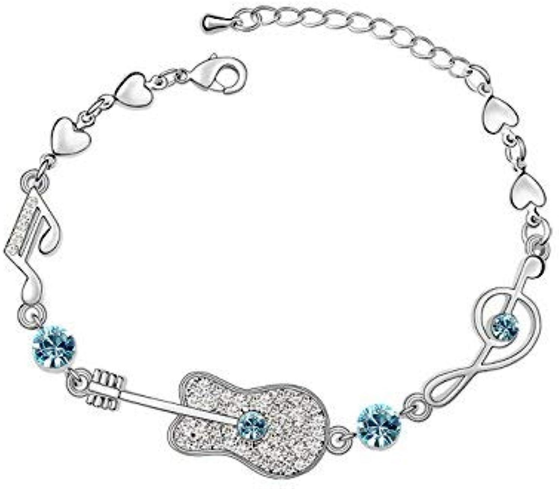 IANXI Home Leng Elegant Pretty Bracelet Personality Jewelry Extravagance Luxury Elegant Crystal Bracelet(Aquamarine)