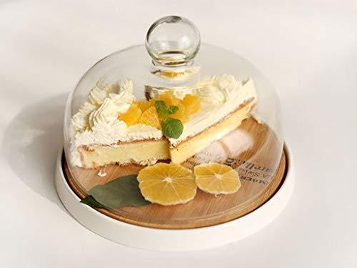 Afternoon Tea taartstolp, restaurant levensmiddelen glazen deksel keramiek en hout gebakplaat hoteldecoratie dessert taartplaat