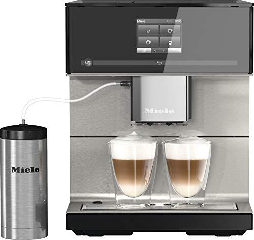 Miele CM 7550 Kaffeevollautomat (Smartphone bedienbar mit WiFiConnect, Kaffeemaschine mit vollautomatischer Entkalkung) schwarz