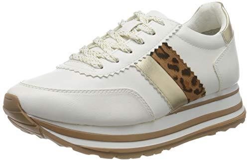 Tamaris Damen 1-1-23737-24 Sneaker, Weiß (White/Leo.COM. 187), 40 EU
