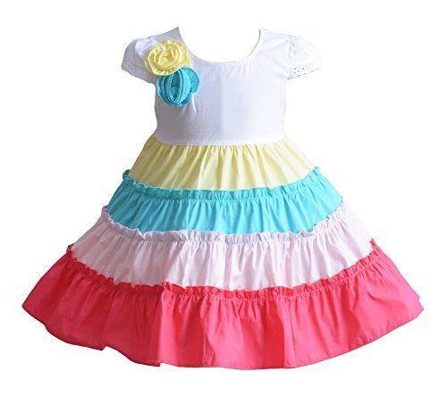 Cinda Robe de soirée bébé Couleur Cinq Filles Cerceau Coton Multicolore 18-24 Mois