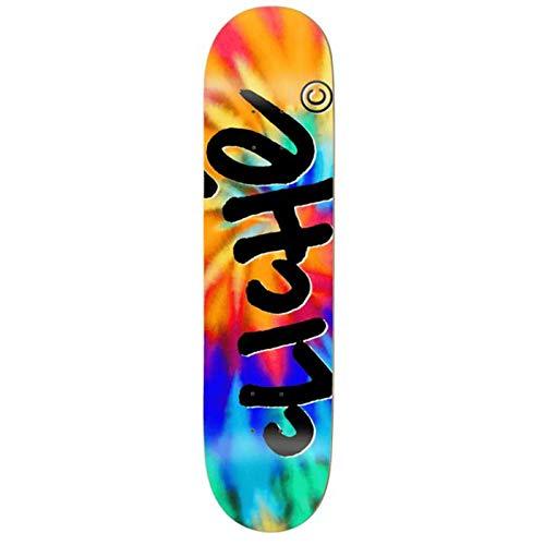 Cliché Skateboards Skateboard Handwritten Invert Tie Dye 8.25 x 31.9