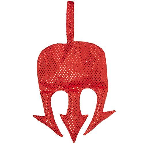 Extraordinaria bolsa de diabla accesorio de disfraz - Rojo 25 x 33 cm - Infernal cartera de dama para disfraz de dama tridente del diablo - Insuperable para fiesta temtica y fiesta de disfraces