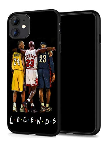 GONA iPhone 11 Case for Basketball Fans, Soft Silicone Protective Thin Case Compatible with iPhone 11 (ONLY) (Legends-Kobe-Jordan-Lebron)