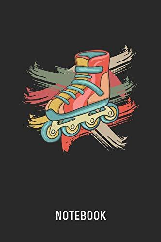 Notebook: Blank & Lined Retro Roller Skate Journal (6