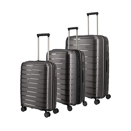 "Series de maletas rígidas ""AIR BASE"", de travelite, en 2 colores. Indestructibles,..."