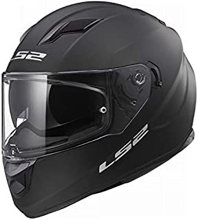 LS2 Helmets - FF320 Stream Evo - Solid - Matt Black - Dual Visor Full Face Helmet - (Medium - 570 MM)