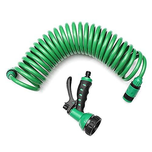 Sistema de irrigación domiciliaria Lavado 7.5m flexible en espiral de caracol de jardín coche de la manguera de agua potable con 7 patrón de pulverización de la boquilla for uso doméstico Car Wash Wat